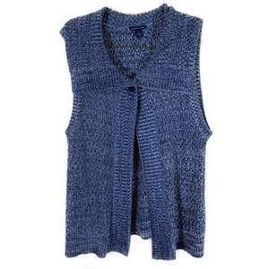 Westbound Petites Blue Sweater Cardigan Size PL